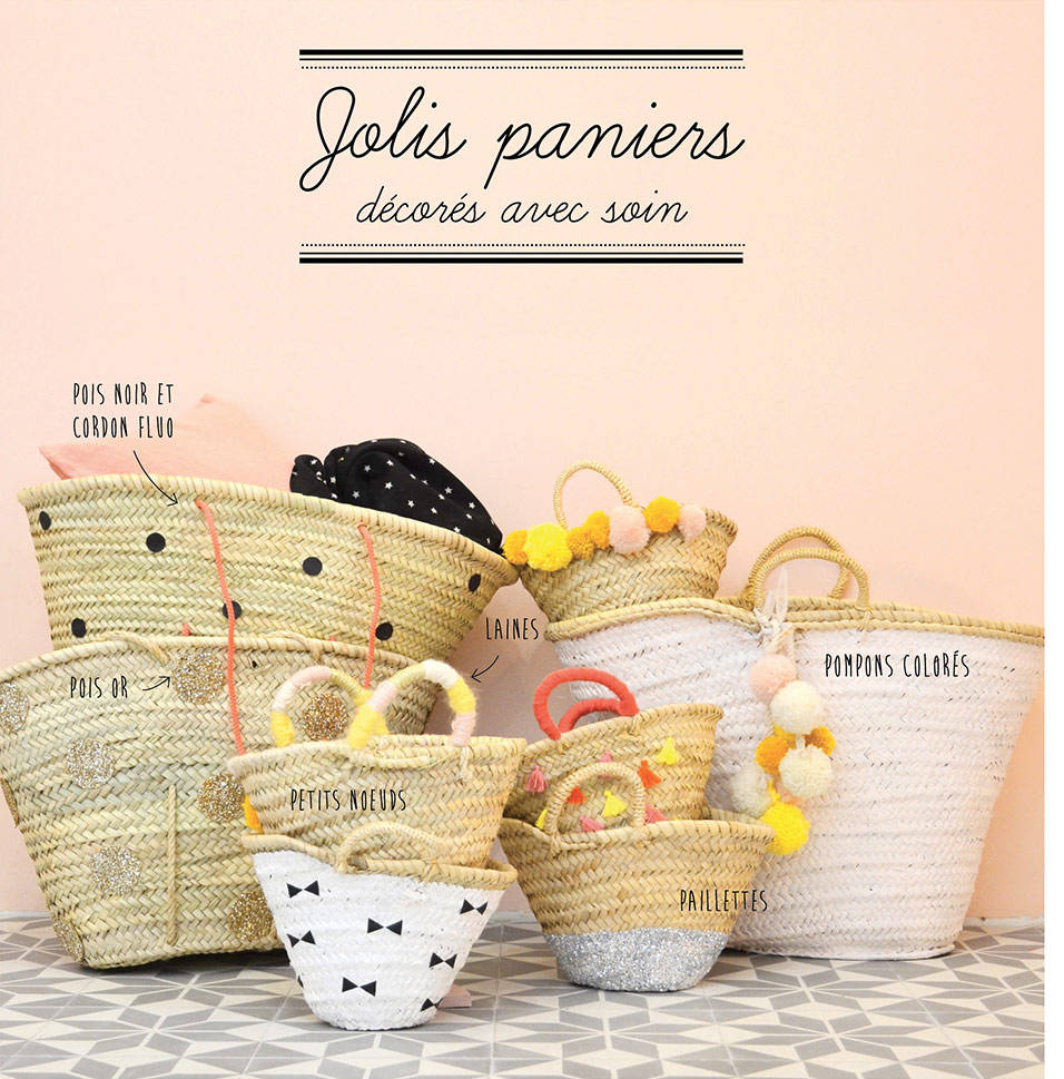 DIY : Customiser les paniers en osier (2)
